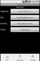 Screenshot of Mon CV - Julien Vey