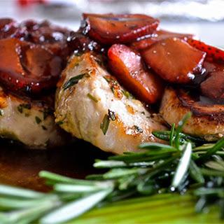 Pork Chops with Balsamic Strawberry Sauce Recipe