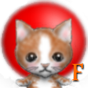 Clock cat .f logo