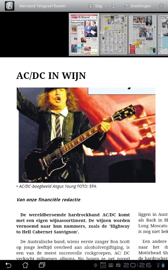 Telegraaf I app - screenshot