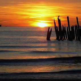 sunset by Vygintas Domanskis - Landscapes Waterscapes ( palanga, waterscape, sunset, lithuania, landscape,  )