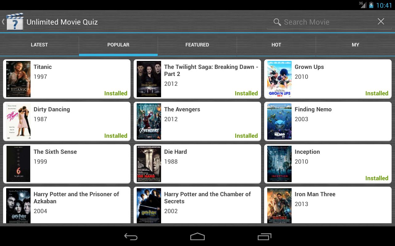 Unlimited Movie Quiz- screenshot