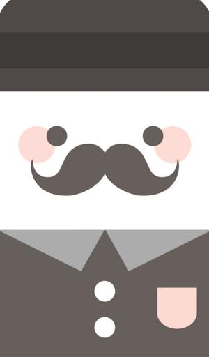 콧수염 그레이 카카오톡 테마