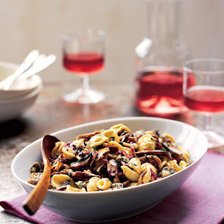 Orecchiette with Mushrooms, Radicchio, and Gorgonzola.