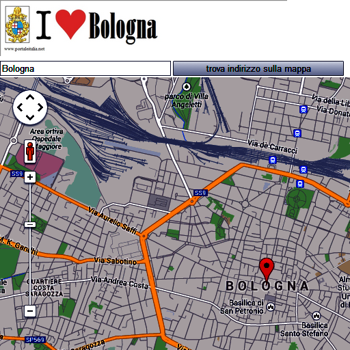 Bologna map