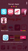 Screenshot of Pretty Girl GO Launcher Theme