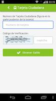Screenshot of Tarjeta Ciudadana