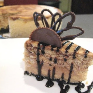 Chocolate Peanut-Butter Swirl Cheesecake