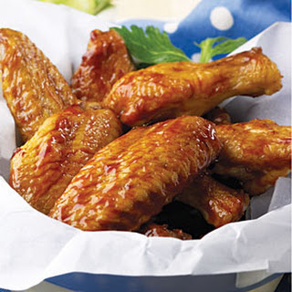Spicy Honey-Molasses Wings.