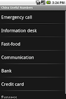 Screenshot of China Useful Numbers