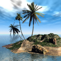 Tropical 3D Island L Wallpaper icon