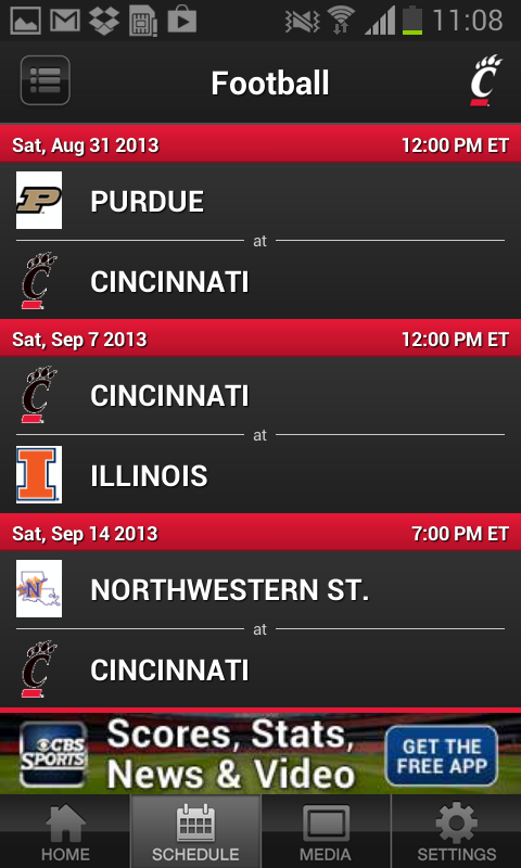 Bearcats Sports - screenshot