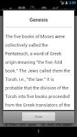 Screenshot of Touch Bible (KJV + Strong's)