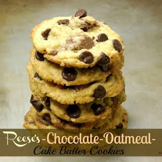 Reese's-Chocolate-Oatmeal-Cake Batter Cookies.