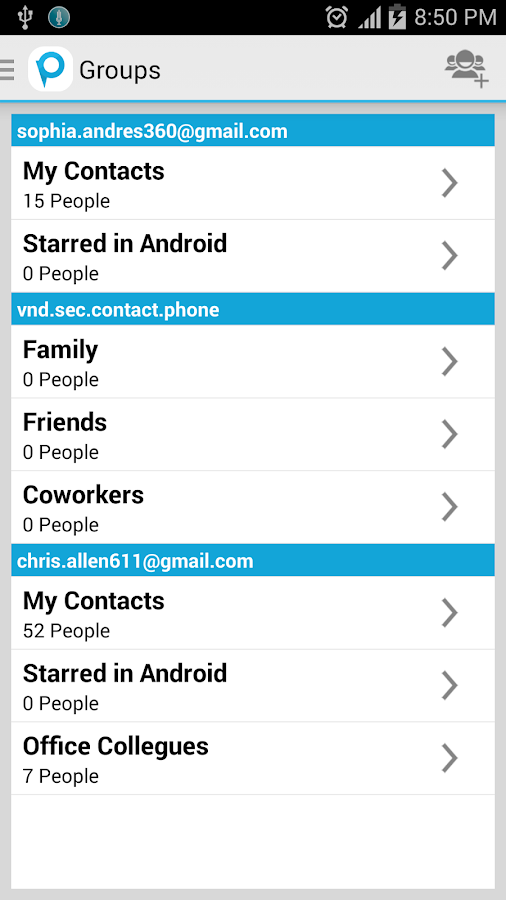 PiContacts (Contact Manager)- screenshot