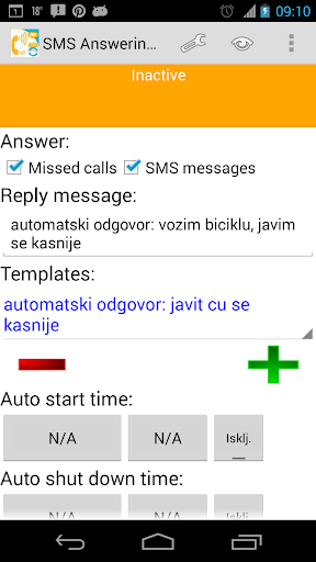 SMS Text Answering Machine +