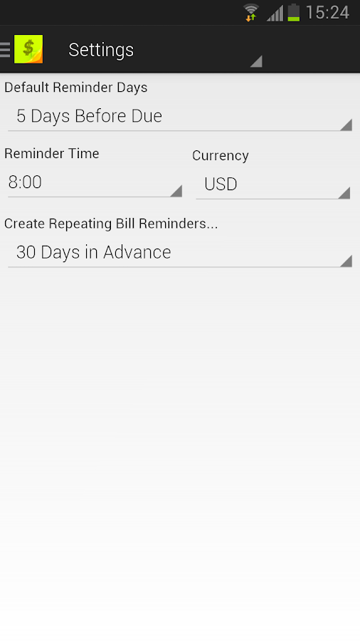 Bills Reminder- screenshot