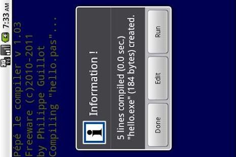 Pépé le compiler- screenshot thumbnail