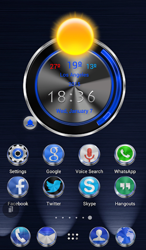 TSF Shell HD Theme Techno 3D