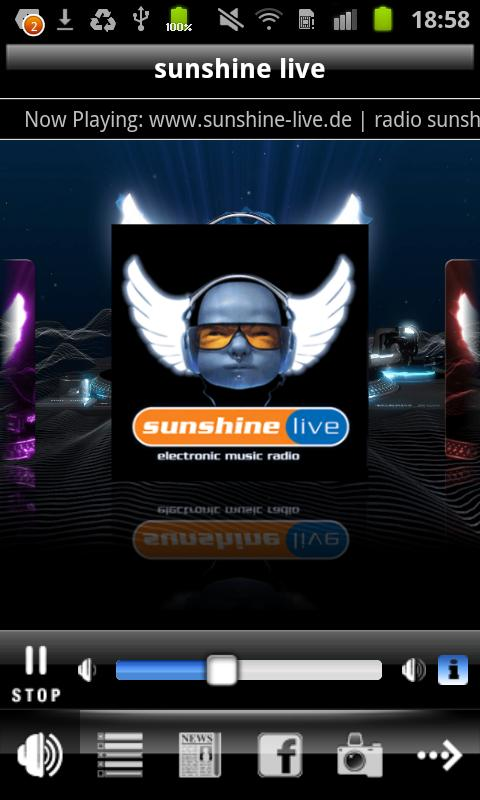 Radio Sunshine Live - screenshot