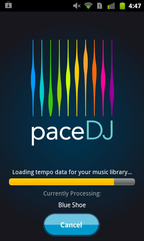 PaceDJ-Run in sync with music - screenshot