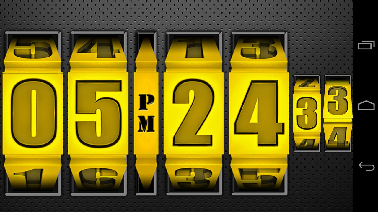 3D Rolling Clock GOLD- screenshot