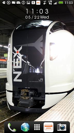 【免費個人化App】日本の鉄道車両 時計付きライブ壁紙-APP點子