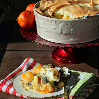 Hot Swiss Peach Trifle.