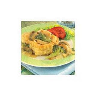 Chicken Dijon in Pastry Shells.