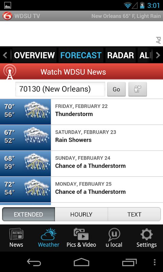WDSU 6 TV - news and weather - screenshot