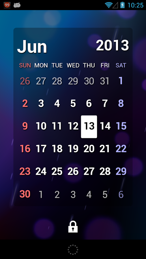 S2 Calendar Widget V3- screenshot