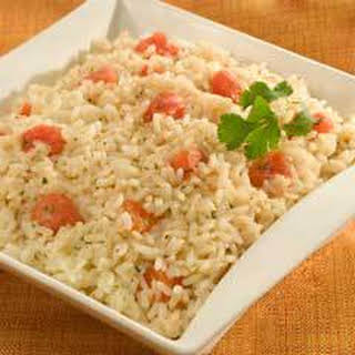 Cilantro Rice With Tomatoes.