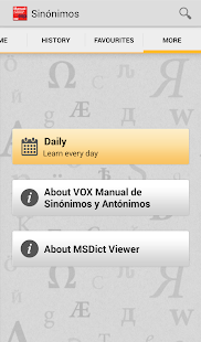 Vox Spanish Thesaurus TR- screenshot thumbnail