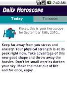 Screenshot of Pisces Daily Horoscope