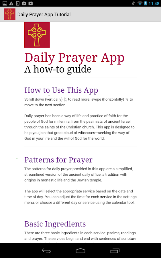 Daily Prayer PC(USA) - screenshot