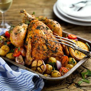 Roast chicken with Bertolli Spread by Gennaro