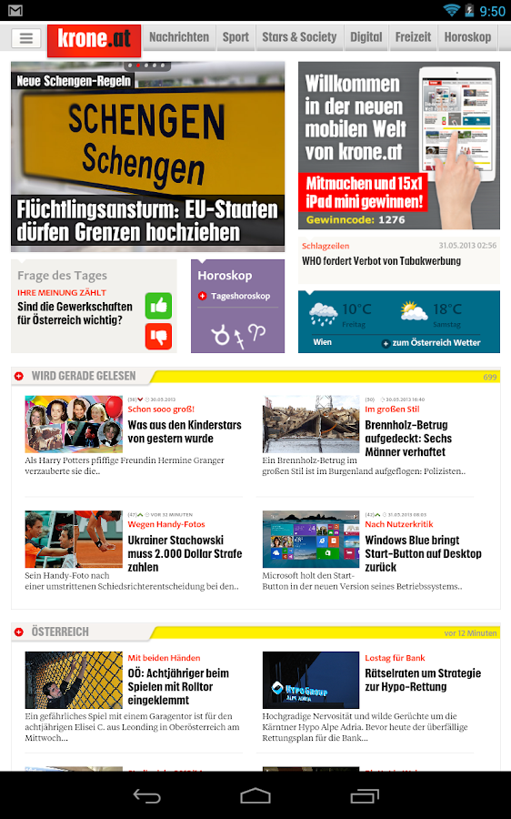 Krone.at - screenshot