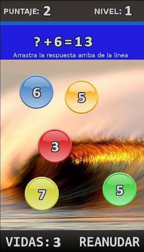 Spanish Maths + Algebra Game