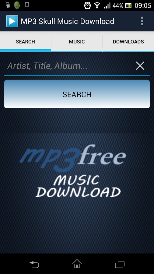 MP3 Skull Music Download - screenshot