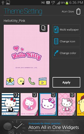 About: Hello Kitty Pink Atom theme (Google Play version