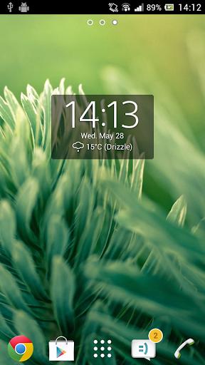 Digital Clock Widget Xperia Screenshot