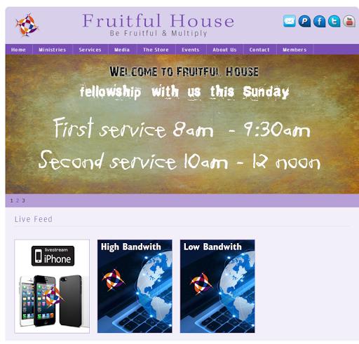 Fruitful House Live Webcast