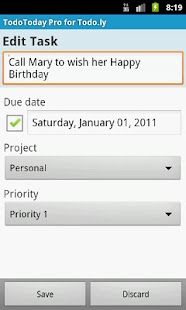 TodoToday Pro for Todo.ly - screenshot thumbnail