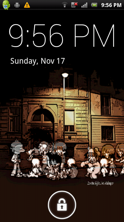 Zombie Fight Live Wallpaper - screenshot
