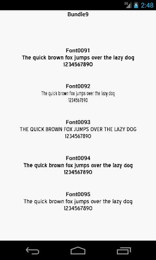 Fonts for FlipFont 9