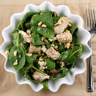 Turkey Spinach Salad with Chutney Vinaigrette