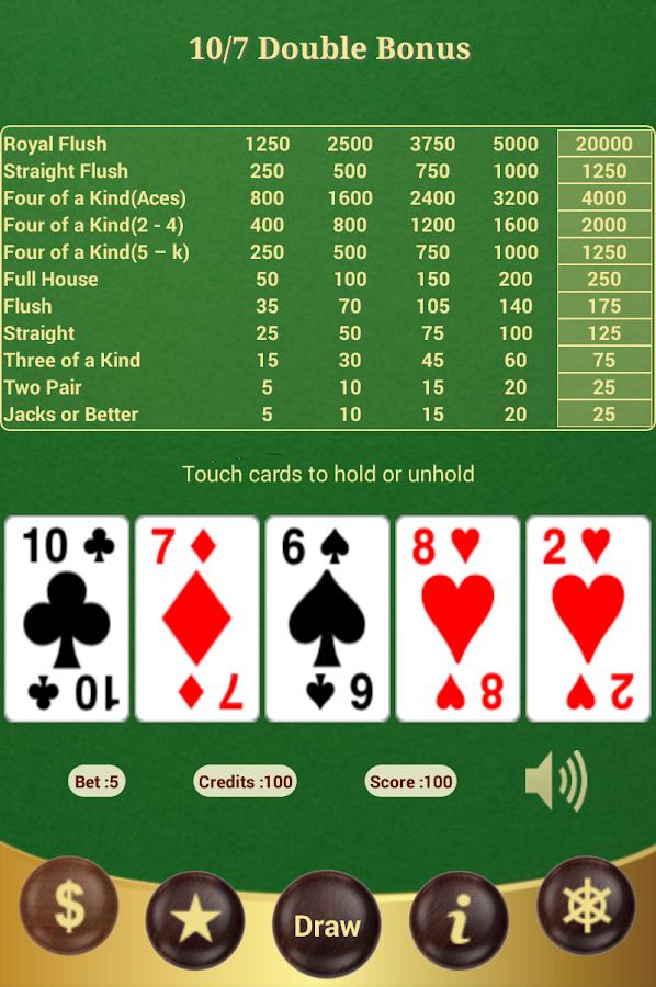 double bonus video poker strategy