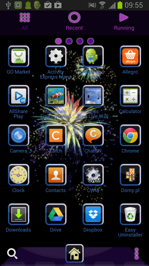 GO Launcher EX New Years Eve - screenshot