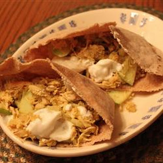 Apple Curry Turkey Pita