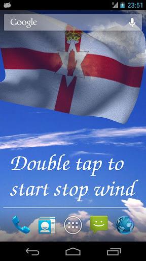 3D Northern Ireland Flag LWP